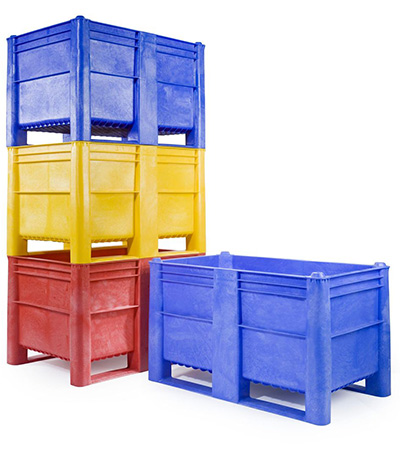 Dolav Palettenboxen im Stapel